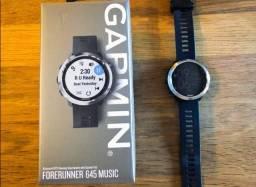 Relógio Garmin para esportes com monitor cardíaco e Spotify musicp