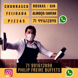 Buffet Roskas Gin Churrasco Feijoada Pizza Churrasqueiros Roskeiros Garçom