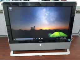 "Computador all in one coreduo/4gbram/ wifi webcam/tela 19"""