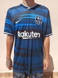 Camisa do Barça 2021/22 Lançamento Camisa de Time