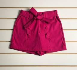 Short saia em alfaiataria