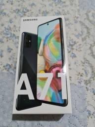 Samsung a71 preto 6gb ram 128gb armazenamento