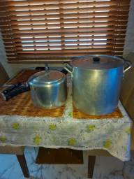 Panela inox de pressão 10 litros e Caldeirão de aluminio