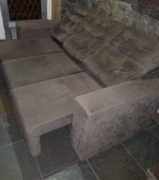 Jogo de Sofá de 2 e 3 lugares retrátil e reclinável usado