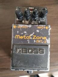 Pedal de Guitarra Boss MT-2 | Metal Zone | Distorção | Para Guitarra