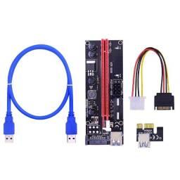 PCIe Riser Ver009s Placa de Vídeo e Mineração de Bitcoins