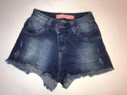 short jeans escuro, tamanho 32