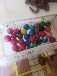 Bolas de cimuca para uzar ou para decoração