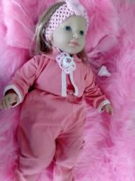 Bebê Reborn Olhos Azuis ! Acompanha Acessórios
