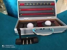 Jogo de golfe para escritório novo com maleta de alumínio