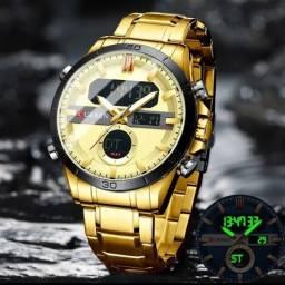 Relógio Masculino Curren Original Dual Time.
