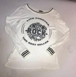 blusa de frio off white, garotada, tamanho 14