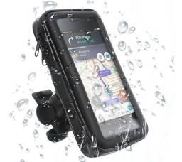 Suporte celular impermeável para motos e bike, compatível com smartphone até 6.3 polegadas