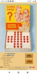 Jogo Quebra Cabeça Resta 1 Década de 1960