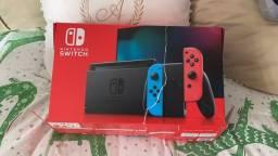 Nitendo Switch com 2 jogos! 1 mês de uso!