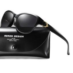 Óculos De Sol Feminino Redondo Polarizado Anti-Reflexo Cat Eye Original A572