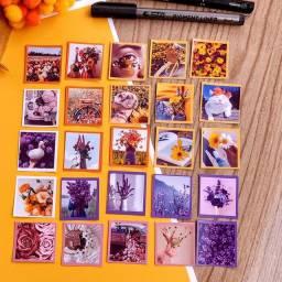 Pacote de adesivos flowers stickers de papelaria