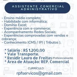 Auxiliar administrativo e Comercial