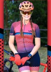 Macaquinho ciclismo feminino - Forração em Gel