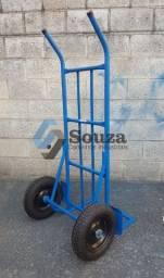 Carro armazém e transportadora com roda pneumática