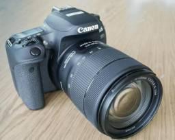 Canon 77d bem nova com 18-55 mm