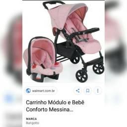 Carrinho C/ Bebê conforto Burigotto R$500,00