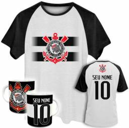 Camiseta Masculina + Caneca Futebol Times Corinthians São Paulo Santos  Palmeiras Até G6 6a99b588e7eae
