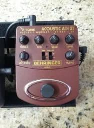 Pedal Modelador Para Violão Behringer Adi21 V-tone Acoustic