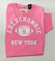 efada5e72e Camiseta Abercrombie   Fitch Pink Xl Original
