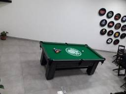 Mesa Maciça Cor Dakar Tecido Verde Logo Palmeiras Mod. HNGY6957