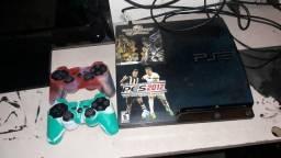 Vendo PS3 dois controle 2 jogos GTA 5 futebol