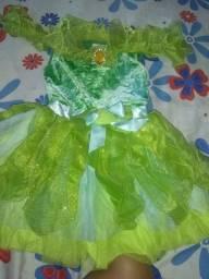 Vestido infantil da sininho