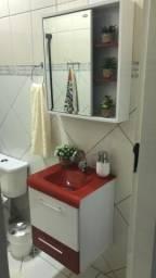 Balcão com espelho para banheiro