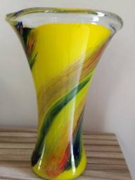 Vaso de Murano colorido italiano