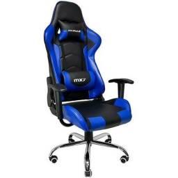 Cadeira Gamer Mymax Mx7 Giratória Preta/Azul (Preta/Vermelho) Somente R$739. Aproveite