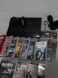 Ps3 Super Slim Usado + 20 jogos físicos e digitais