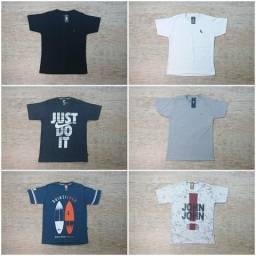 Kit c 6 Camisetas Estampadas e Básicas 77493d582ced0