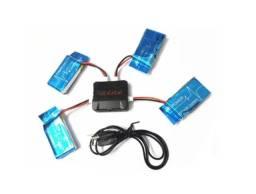 Kit 1 Carregador E 5 Baterias 1200mah 3.7v Syma