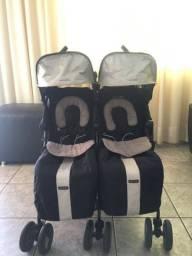 Carrinho bebê gêmeos maclaren twin techno