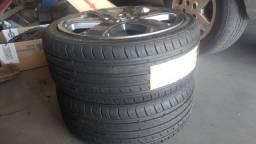 Jogo de rodas e pneus 205-40 aro 17 - novíssimos