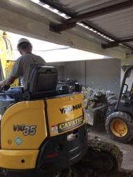 Locações de Mini escavadeira e carregadeira, trado perfuratriz de até 4 metros