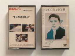 Chico Buarque 2 Fitas K7 Francisco e Personalidade