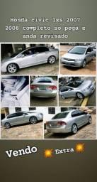 Honda civic lxs 2007 completo