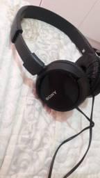Fone de ouvido Sony com nota