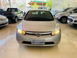 Honda civic lxs 1.8 flex automático-blindado 2008 super novo