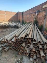 Tubos de aço zincado 4 polegadas Total 130 canos
