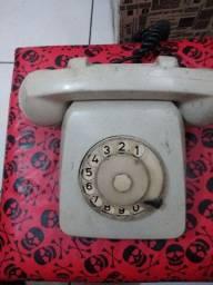 Telefone de disco antigo colecionadores.