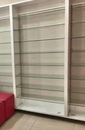 Módulo com prateleiras de vidro - Ideal pra lojas, closets e outros