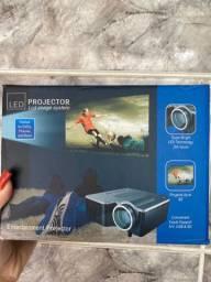 Mini projetor led novo