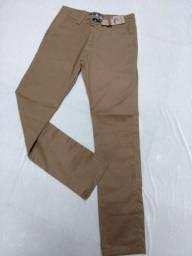 Lote de calças masculinas de sarja com elastano